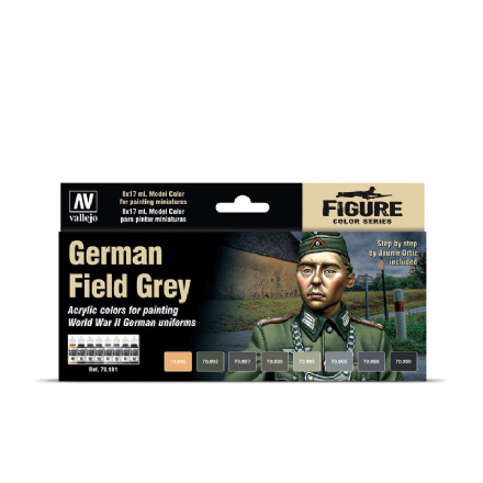 Vallejo Model Colour German Field Grey Paint Set